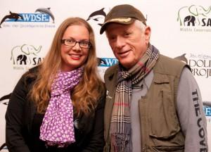 Richard O'Barry mit unserer LAG Mensch und Tier Vorsitzenden Sarah Bähner